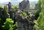 Заповедник Саксонская Швейцария, мост Бастай и замок Кёнигштайн (Германия)